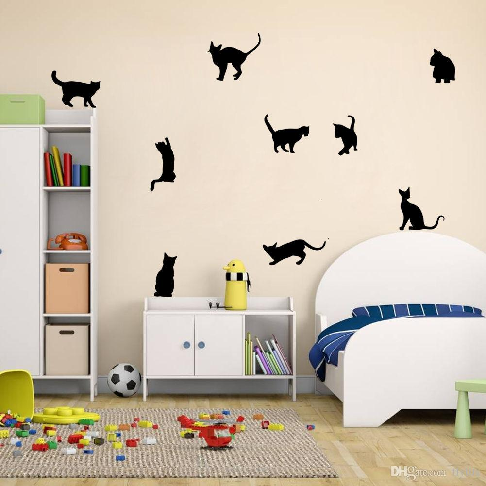 Diy Cats Vinyl Wall Stickers Home Mural Decals For Living Room Kids Room  Decor Cheap Wall Art Stickers Cheap Wall Clings From Flylife, $4.53|  Dhgate.Com Part 35