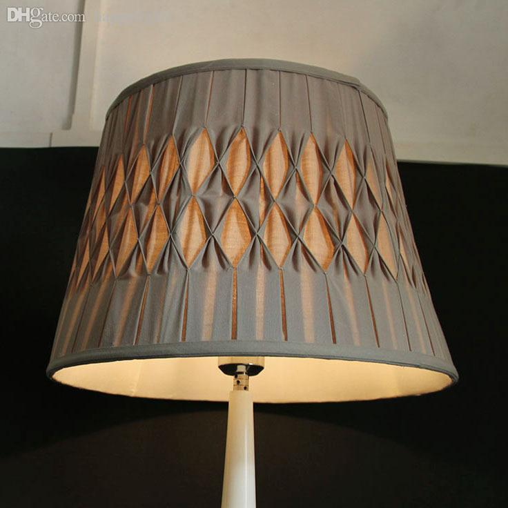 2018 wholesale 38 x 28 x 27cm large linen pleated lampshade modern brown decorative lamp shades for table lamps ls59001x from hymen 48 0 dhgate com
