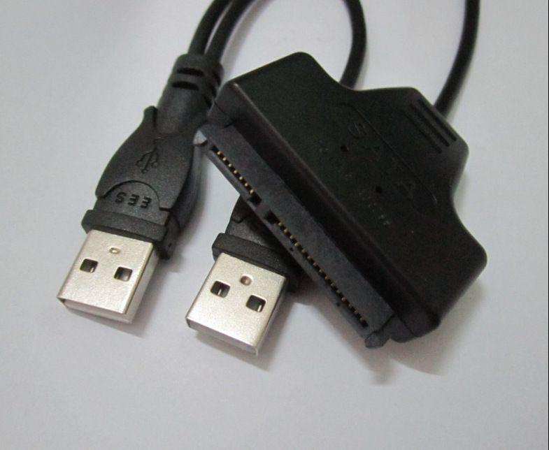 2.5 pulgadas Unidad de disco duro HDD Sata Cable USB 2.0 a SATA 7 + 15 Pin 22Pin Adapter Cable envío gratis