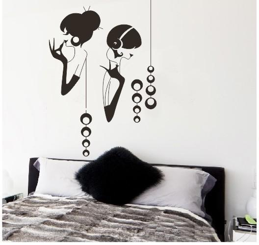 Modern Fashion Elegant Girl Wall Stickers Beautiful Sticker Wallpaper For  Wall Vinyl Removable Decals Wall Murals Cheap Wall Art Decals Cheap Wall  Art ... Part 53