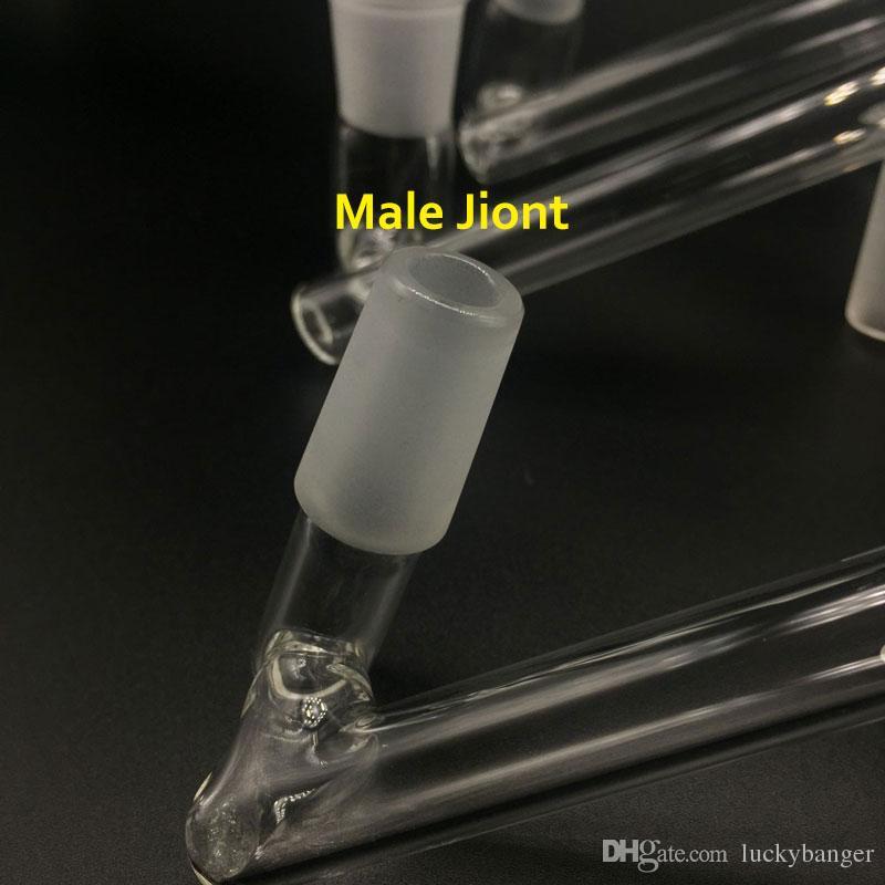 2017 Hot Dropdown Glass Pyrex Adaptador Hembra Masculina 14mm 18mm A 14mm 18mm Adaptadores Desplegable de Vidrio Femenino Para Recipientes De Vidrio Reciclador