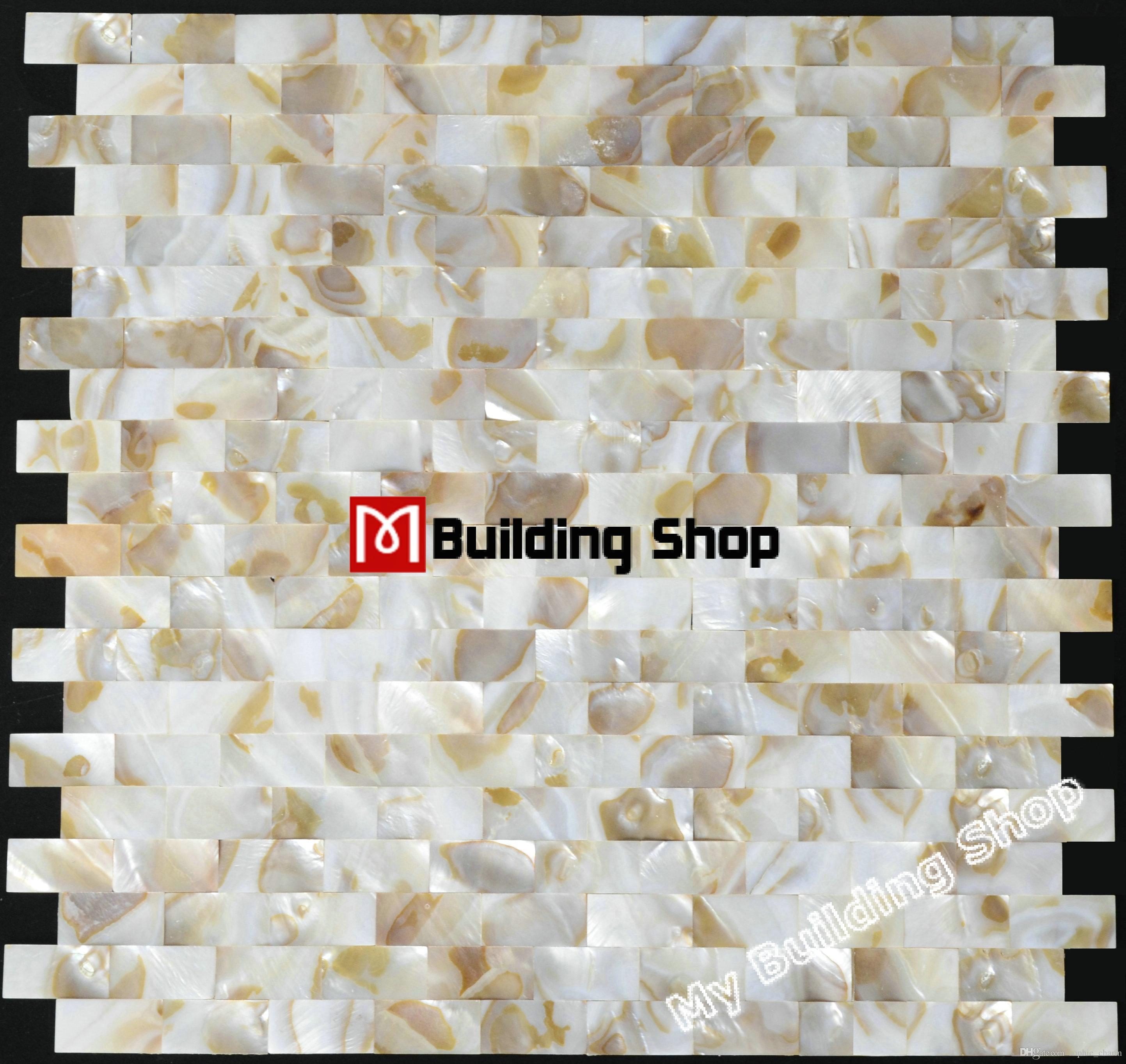Grosshandel Perlmutt Backsplash Fliese Mop012 Steinmuschel Mosaik