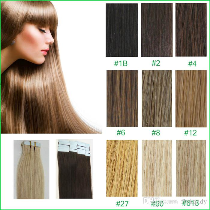 Undetectable Pu Tape Hair Weft Extensionsgorgeous Brazilian Remy