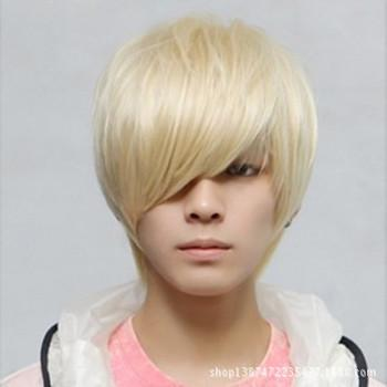 New Fashion Short Hair Wig Men Wigs Synthetic Handsome Korean - Short hair curly korean