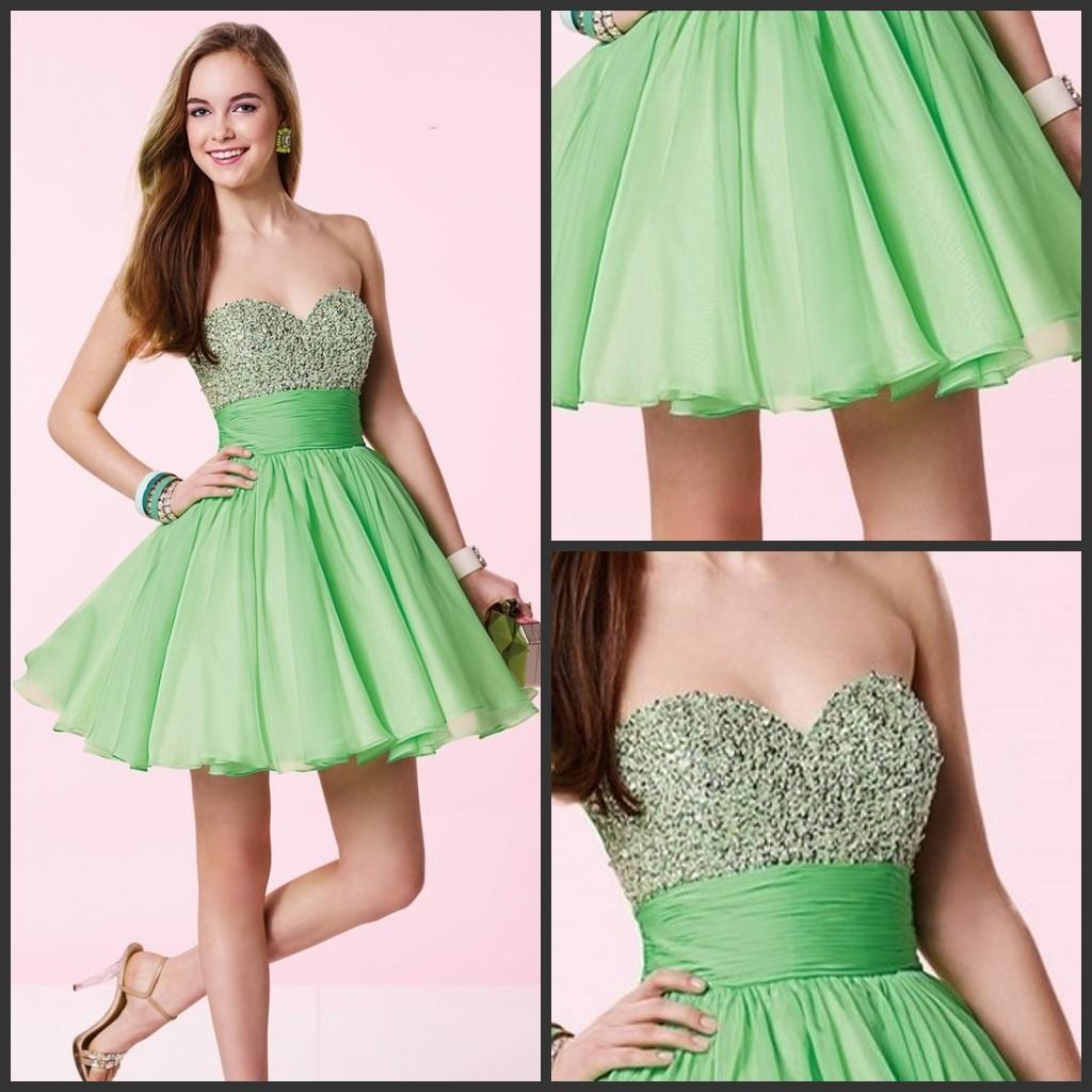 Lime Green Club Dresses Lime Green Shor...
