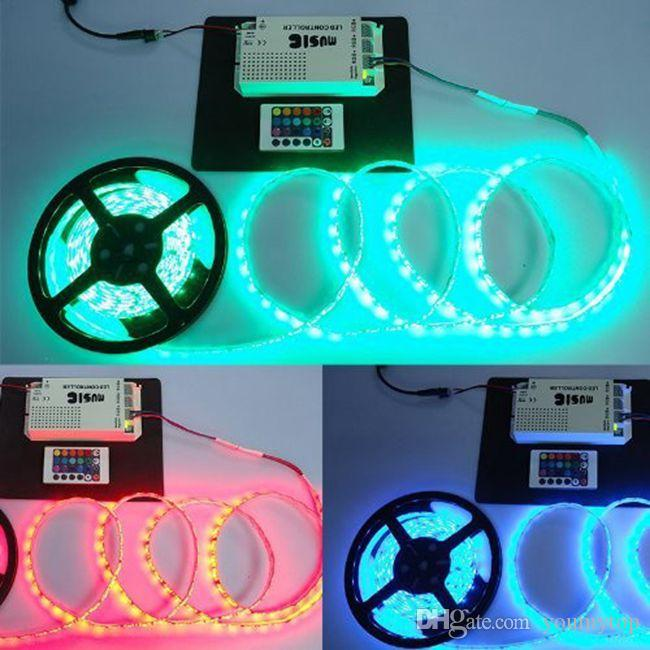 2016 Hot koop LED-verlichting LED Strip Licht Muziek Geluidsgevoelige IR-controller voor RGB LED-verlichting Strip 12V 6A