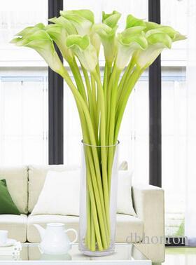 Hediye / 2015 Ev Dekorasyonu için Düğün Dekorasyon Parti Flower için yapay yılbaşı çiçek PU Calla Lily Gerçek Dokunmatik Çiçek Yapay Çiçekler