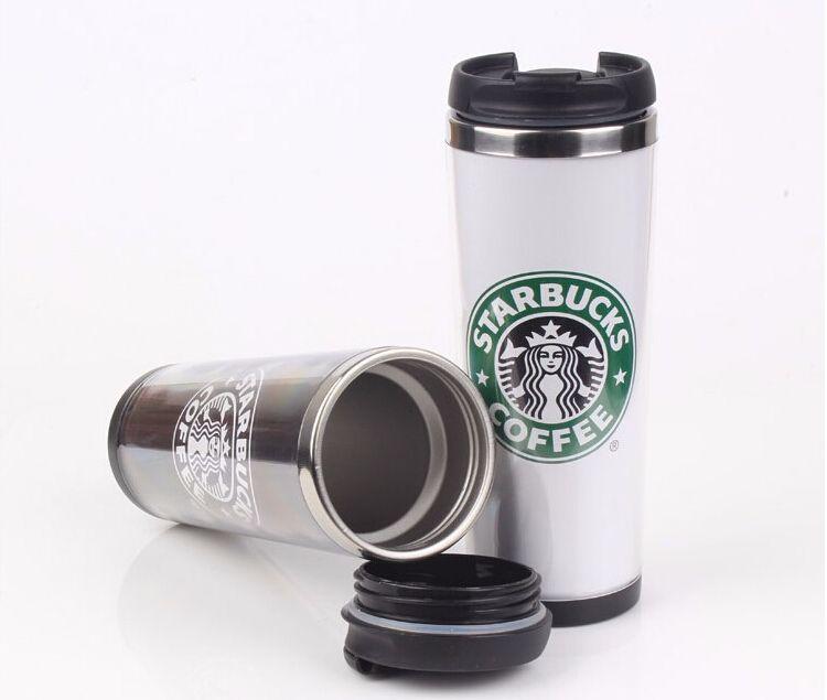 Starbucks двойной стены из нержавеющей стали кружка гибкие чашки / чашка кофе / кружка чай / путешествия кружки / чашки чая / вина чашки 4 цвета