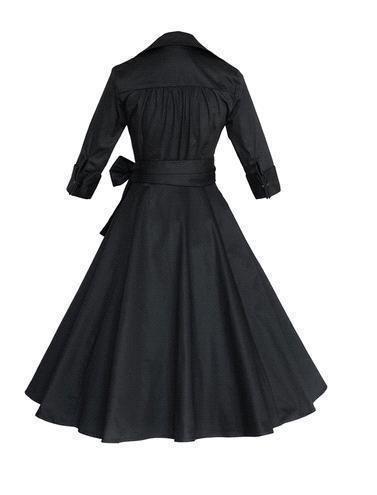 Mode Nouveau Audrey Hepburn Vintage Style Casual Robes Moderne À Volants Femmes Européenne Automne Hiver Manches Longues Causale Jupes OXL082209