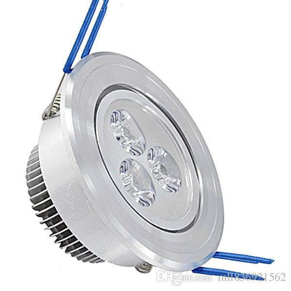 ضوء السقف أدى 3X3W عكس الضوء LED راحة أسفل السقف الضوء 110V 220V لمبة بقيادة مصباح النازل الإضاءة أضواء مع سائق