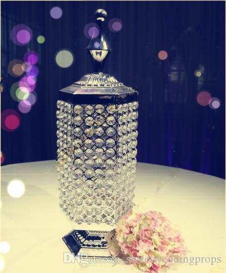 Crystal Candle houder, metalen kaarshouder bruiloft centerpieces 111
