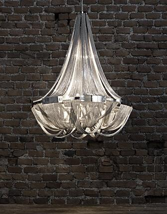 Terzani Soscik Suspension Light Aluminum Chain Chandeliers Modern ...