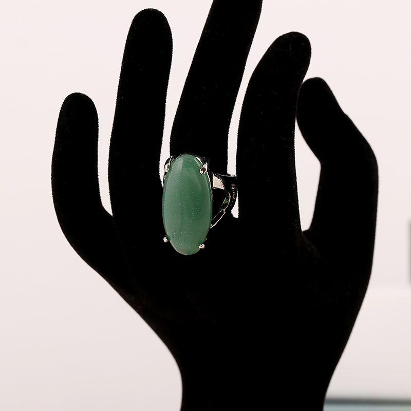 Anello di pietra naturale di fascino della pietra naturale di alta qualità del lotto di 12 pezzi Anello le donne Gioielli cinesi