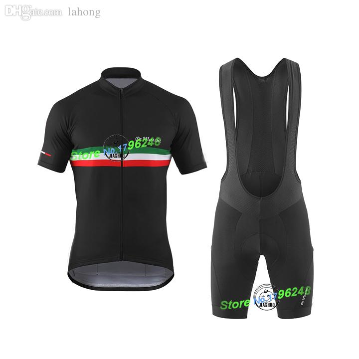 b36165210 Wholesale-New 2015 De Marchi Team Black Pro Cycling Jersey Gel ...
