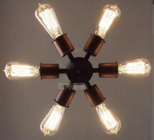 Vintage Industrial DIY Ceiling Lamp Bell Glass Pendant ...