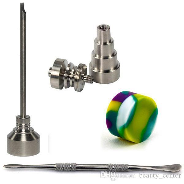 بونغ أداة تعيين 10/14 / 18mm دوميليس Gr2 التيتانيوم مسمار كارب كاب دابر Slicone جرة الزجاج بونغ التدخين أنابيب المياه