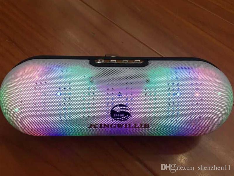 JHW-V313 Bluetooth Speakers U Disk TF Card Slot FM Radio LED Flashing Portable Mini Wireless Music Players DHL Free MIS088