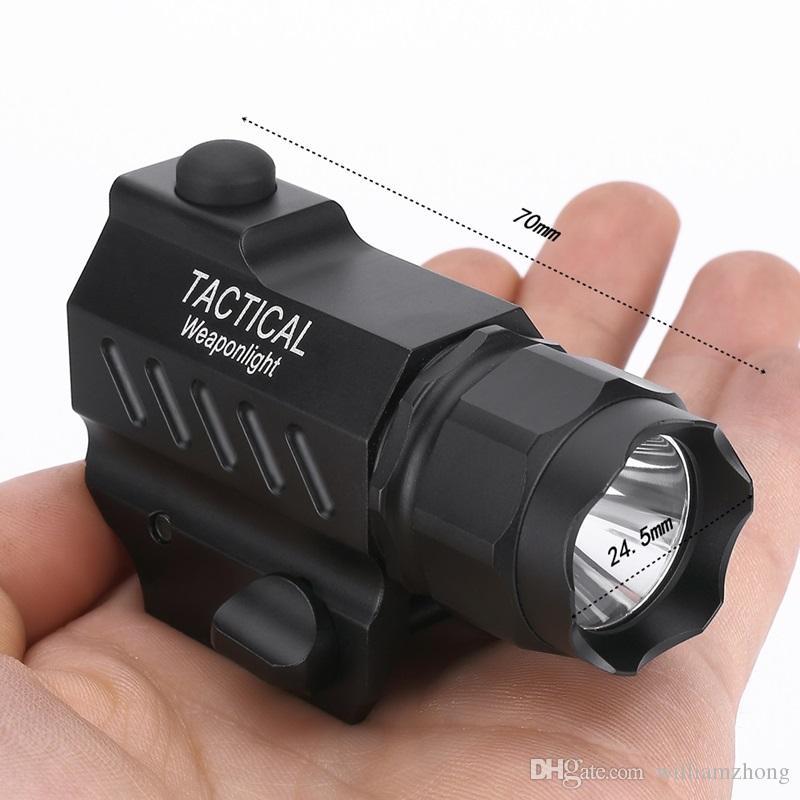 NITEKING G101 LED Tactical Flashlight 2-Mode 600LM Pistol Handgun Torch Light Weather-proof Handheld Flashlights