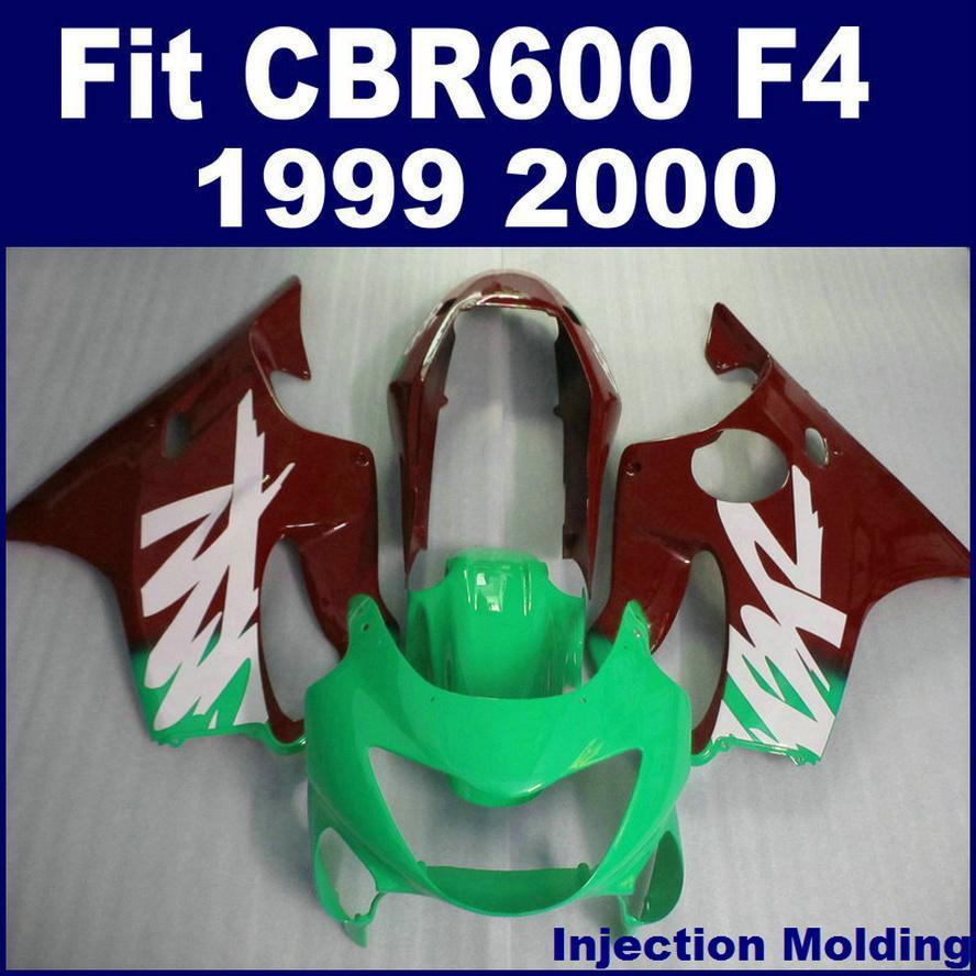 100 ٪ ABS racing حقن صب ل HONDA fairing parts CBR 600 F4 1999 2000 right green cbr600 f4 99 00 fairing idsd