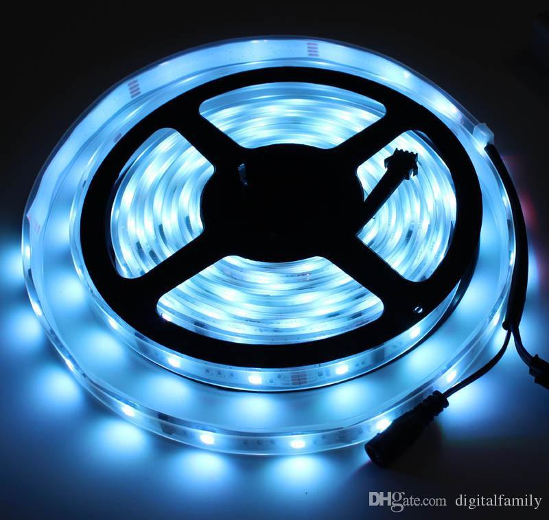 Magic LED Strip Dream Color 6803 IC 5050 RGB SMD Light 150 LEDs 5M waterproof IP67 Program By DHL