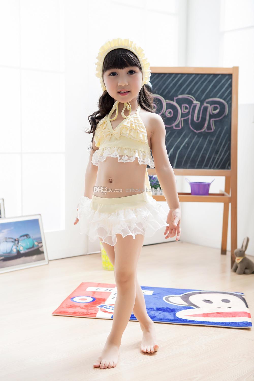 Summer Girls Swimwear Sweet Lace Bow New Brand Princess