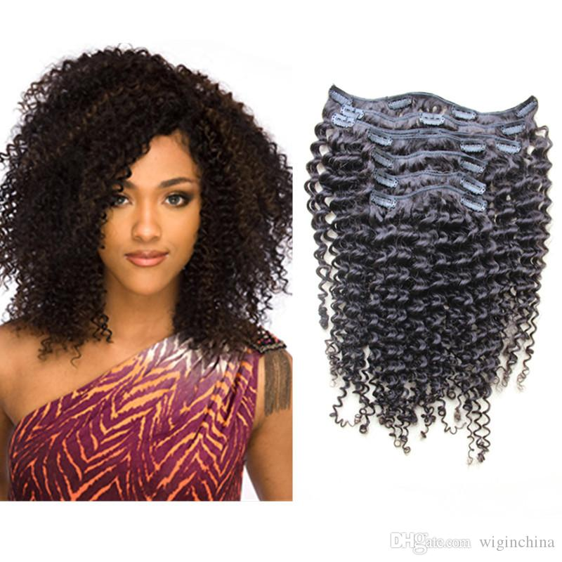 6a Clip In Human Hair Extensions 100 Malaysian Afro Kinky Curly