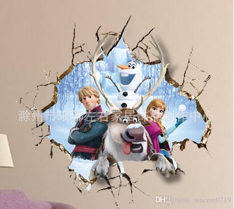 Frozen Wall Art kristoff sven elsa frozen wall stickers olaf decorative wall decal