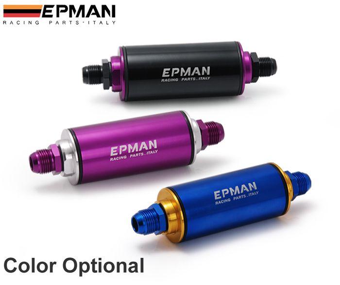 Tansky - EPMAN Fuel Filter عالمي 100 ميكرون الألومنيوم عالية التدفق وقود مضمنة البنزين سيارة شاحنة AN8 EP-OF08