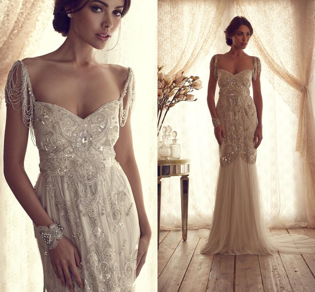 Anna Campbell Wedding Gowns: Discount Stunning Anna Campbell A Line Wedding Dresses