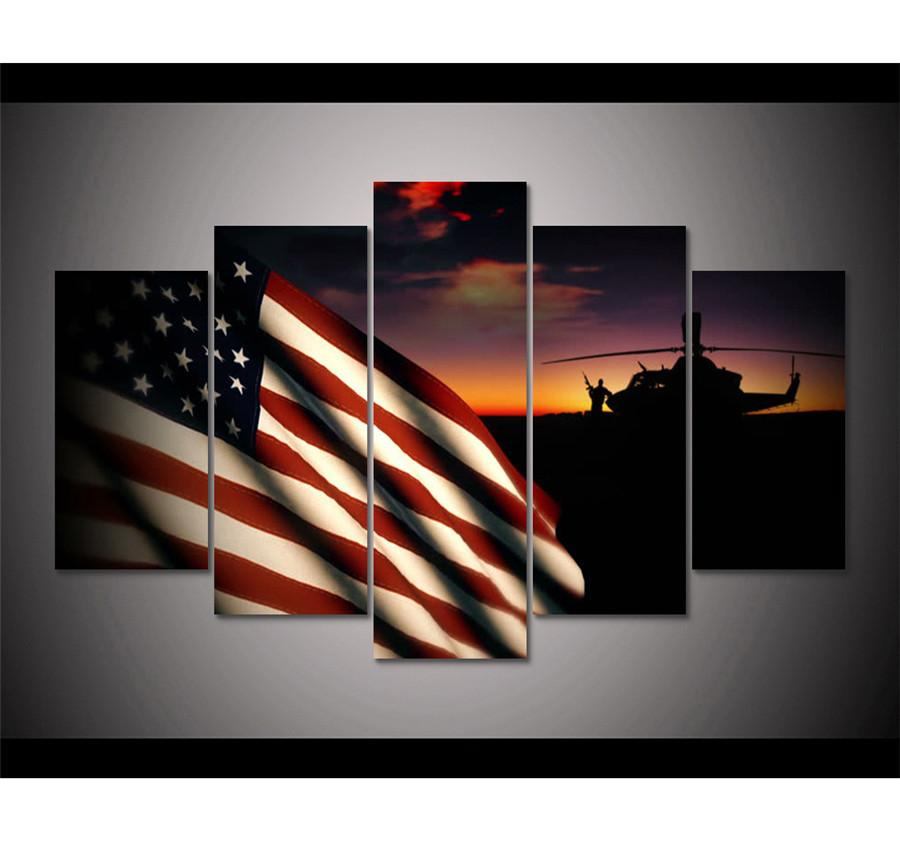 2018 Soldiers In Front Of Us Military Flag,Home Decor Hd Printed ...