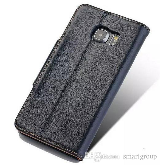 Noble New For Samsung S6 Edge Case Flip Purse Brand Genuine Wallet Original Luxury Silicone Leather Case for Samsung Galaxy S6 Edge G9250