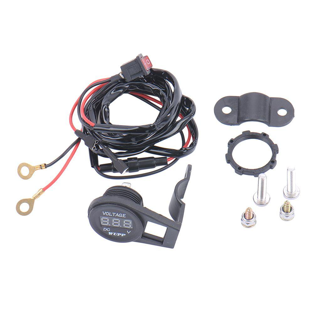 Car DC 6-30V Motorcycle Handlebar Digital Amp Meter Volt Panel Meter Gauge Ammeter Voltmeter Digital Testing Tool