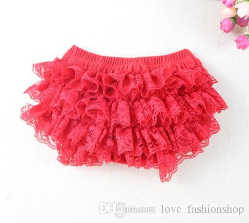 Baby Girls Lace TUTU Bloomers Cute Kids Short Girls Pettiskirt tutus underwear pants Infant Ruffle Diaper Cover Children Clothing