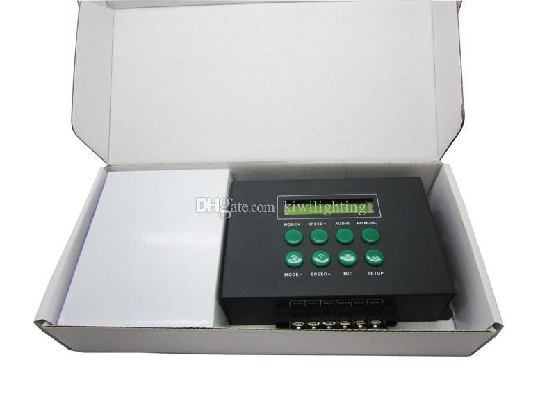 LT-209 Цифровой пиксельный музыкальный светодиодный контроллер DMX512 SPI Сигнал DC12V + Пульт дистанционного управления + 12В Блок питания