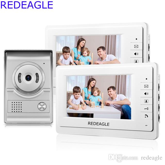 REDEAGLE Home Wired 7 Inch LCD Video Door Phone Intercom System Kit ...