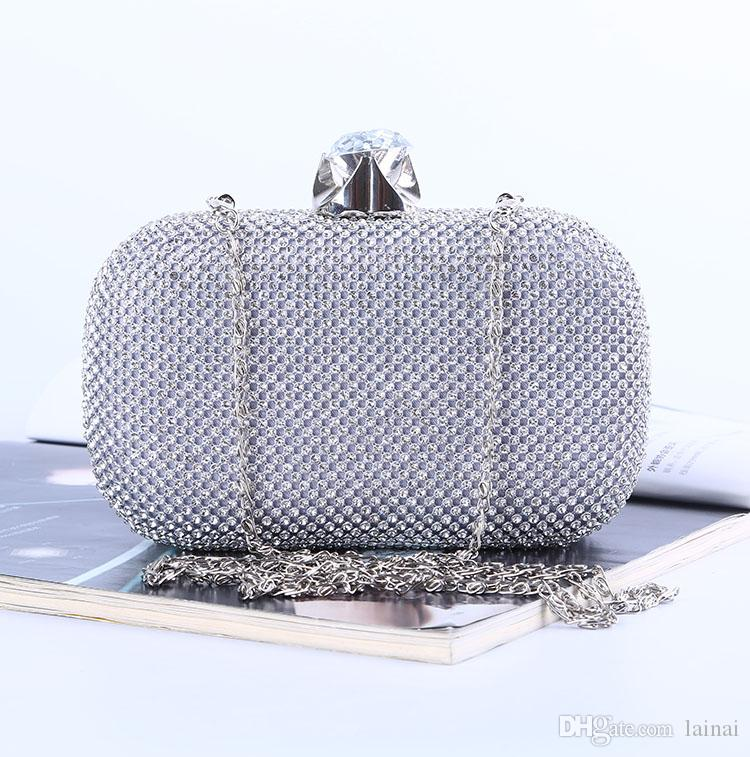 Factory/Retaill/Wholesale brand new handmade attractive diamond evening bag/clutch with satin for wedding/banquet/party/pormmore colors