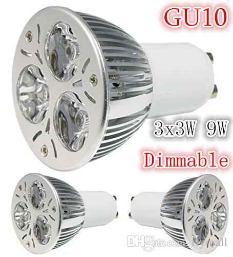 Super Bright GU10 Warm/Cool White 3x3W 9W Dimmable LED Light Lamp Bulb Spotlight Energy Saving spot lamp Downlight AC 85V-265V