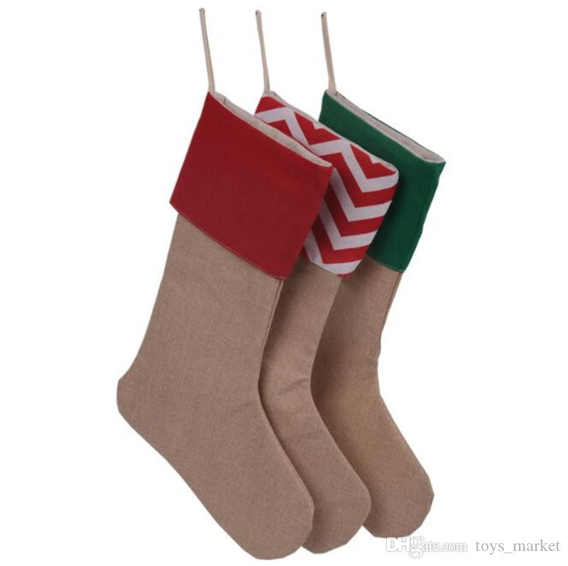 new canvas christmas stocking gift bags canvas christmas xmas stocking large size plain burlap decorative socks bag 1218inch high quality buy christmas - Where To Buy Christmas Stockings