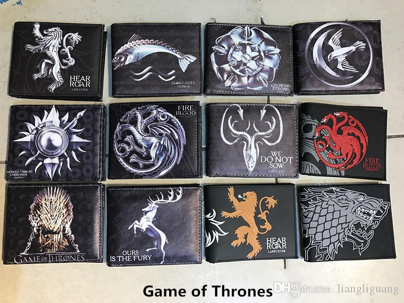 Game of Thrones Stark Winter is Coming Short Wallets Leather Wallet With Coin Pocket Wolf Wallets For Boys Girls Purse