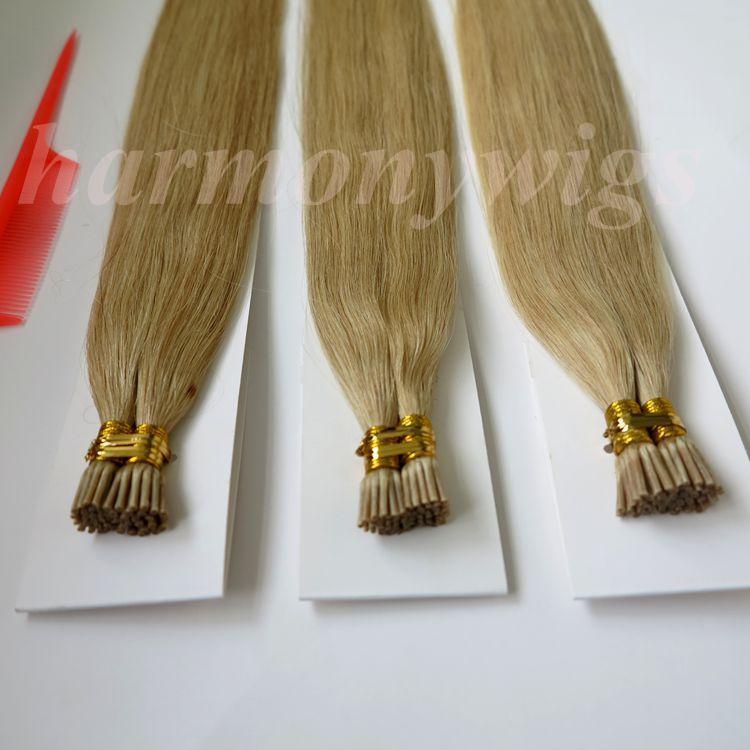Я Совет бразильский extenisons человеческих волос предварительно скрепленные палки 100г 100пряди 18 20 22 24-дюймовый M27613 цвета прямые индийские волосы продукты