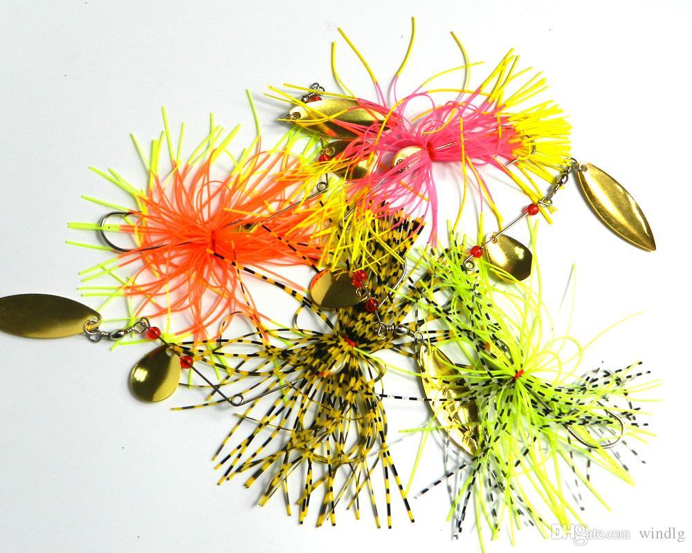 Hengjia Spinners qualità 0.522OZ filatore esca richiamo del metallo richiamo duro richiamo di pesca di buona esche dure 14.8G i