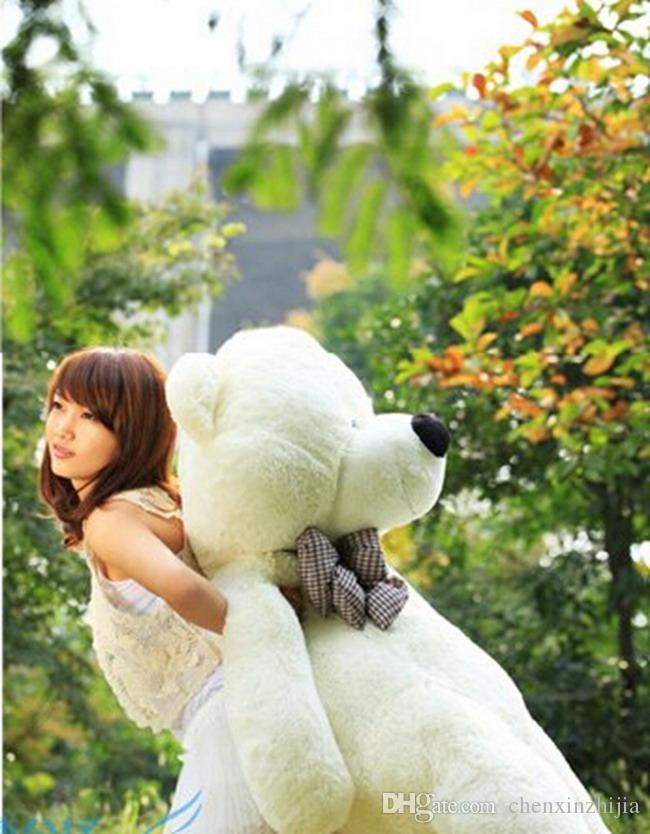 "Wholesale cheapDark Brown/Light Brown/pink/white New Cartoon Bear Toy Sleepy Large Size Plush Soft Stuffed Giant 3 Size 31"" 39"" 47"""