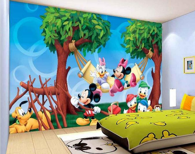 Customize Wallpaper Hand Painted Cartoon ChildrenS Room Tv Backdrop Mural Circle 3d Free Shipping4275 Widescreen Desktop