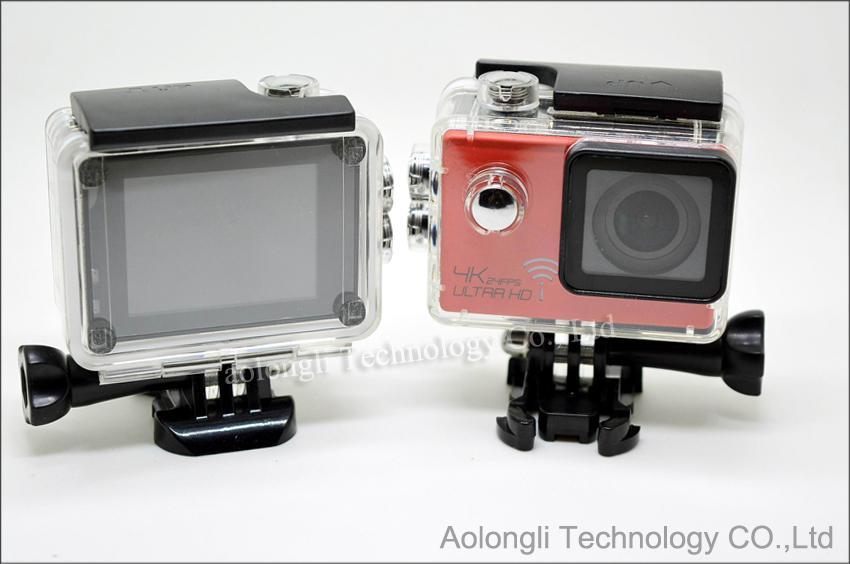 Ultra HD 4 K Su Geçirmez Kamera 24fps SJ8000 WiFi Spor Eylem Kamera 1080 P / 60fps 2.0 LCD 170D Lens Kask Kam mini Kamera DVR