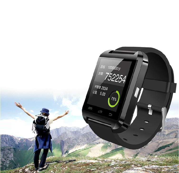 Smartwatch Bluetooth Smart Watch U8 Armbanduhr digitale Sportuhren für iOS Android Samsung Handy Wearable Electronic Device JBD-U8