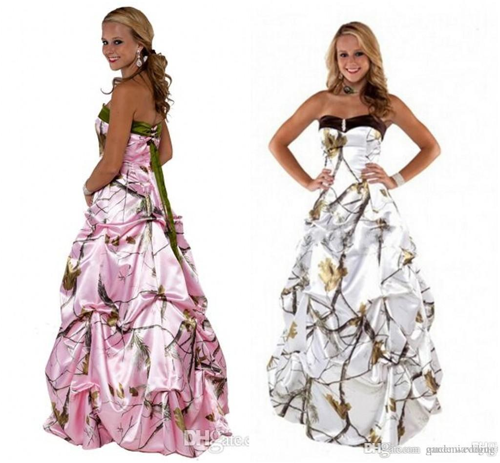 Camo Wedding Dresses Winter White Realtree With Snow Sweetheart ...