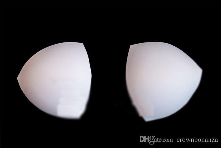Schwarze weiße Haut-Schwamm-BH-Wäsche-Badebekleidungsbrustpolster-BH-Einsatz-Kissen-Brustauflage 100 Paare