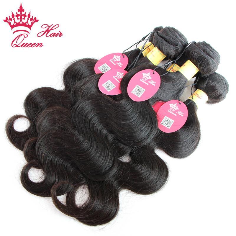 Королева волос Продукты перуанский девственница тела Волна 4 шт. / лот 100 г / шт 12