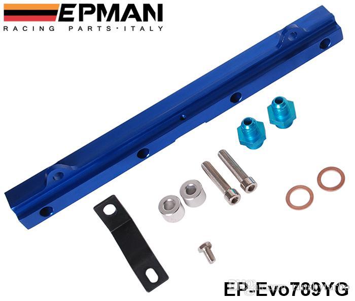 EPMAN 탑 피드 인젝터 Mitsubishi 4G63 EVO 789 용 연료 레일 키트 EP-Evo789YG / TK-Evo789YG