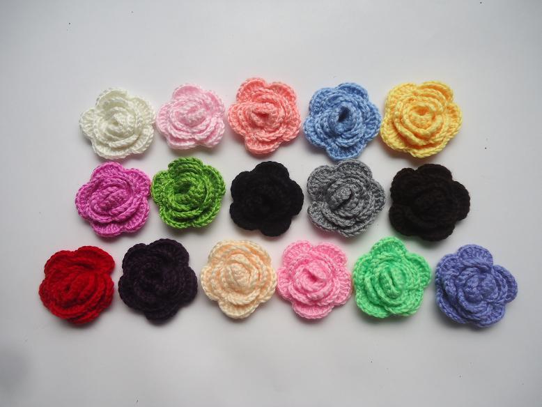 Großhandel Diy Haarband Rose Blume Häkeln Handbuch Haken Blume Bogen